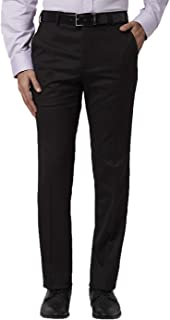 American-Elm Slim Fit Cotton Black Formal Pant for Men | Black Trouser for Daily Office