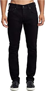 True Religion Men's Rocco Skinny Fit Stretch Jeans w/Flaps in Body Rinse Black