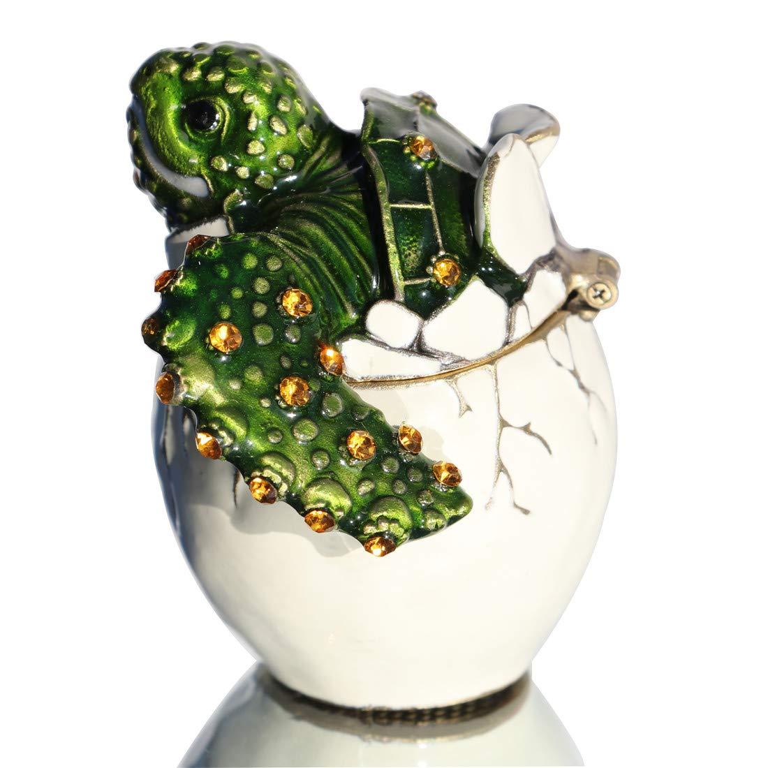 Image of Super Cute Hatching Sea Turtle Collectible Jeweled Box