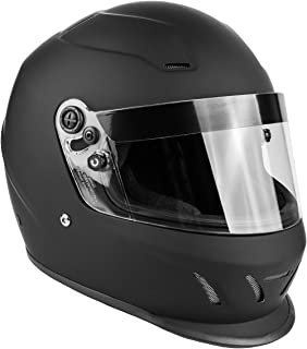 Snell SA2015 Approved Full Face Racing Helmet (Matte Black, XL)