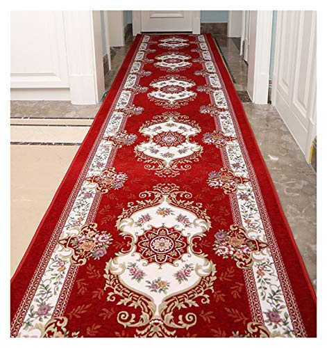 ditan XIAWU Treppenteppich Zuhause Bett Couchtischmatte Kann Geschnitten Werden rutschfest (Color : Red, Size : 100x100cm)