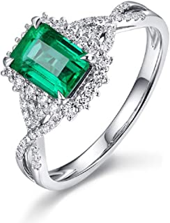 Gorgeous 5 Carat Lab Created Green Prehnite Princess Cut Statement Ring Silver Filled Ring Size 7 Promise Gem Gift Women Engagement