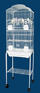 Mcage Canary Parakeet Cockatiel Lovebird Finch Bird Cages with Stand On Wheels - 18