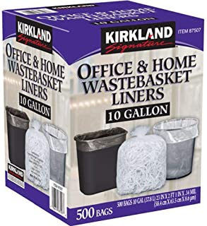 Kirkland Signature 10 Gallon Clear Wastebasket Liners Bags