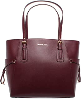 Michael Kors Voyager East West Signature Tote (Oxblood)