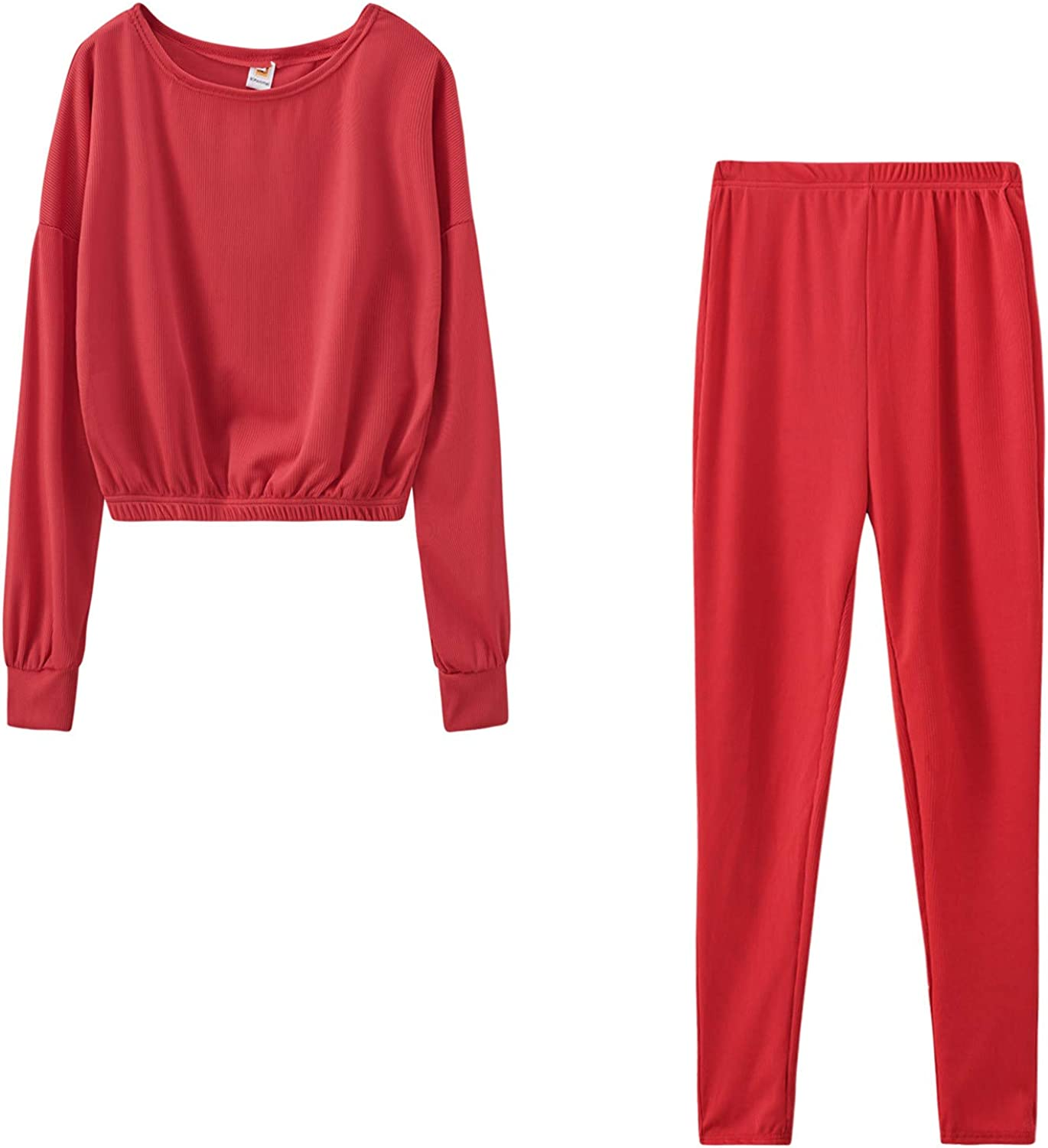 Women Fashion Solid Max 58% OFF Color Sweater Shirt Top S and Tracksuit Pant Max 44% OFF