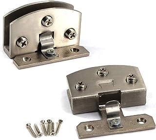 Kit de bisagras para puerta de cristal de aleación de zinc con bisagras de cristal y clip de sujeción para puerta