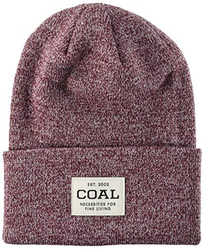Coal Uniform Acyrlic Workwear Knit Cuff Beanie, Burgundy Marl