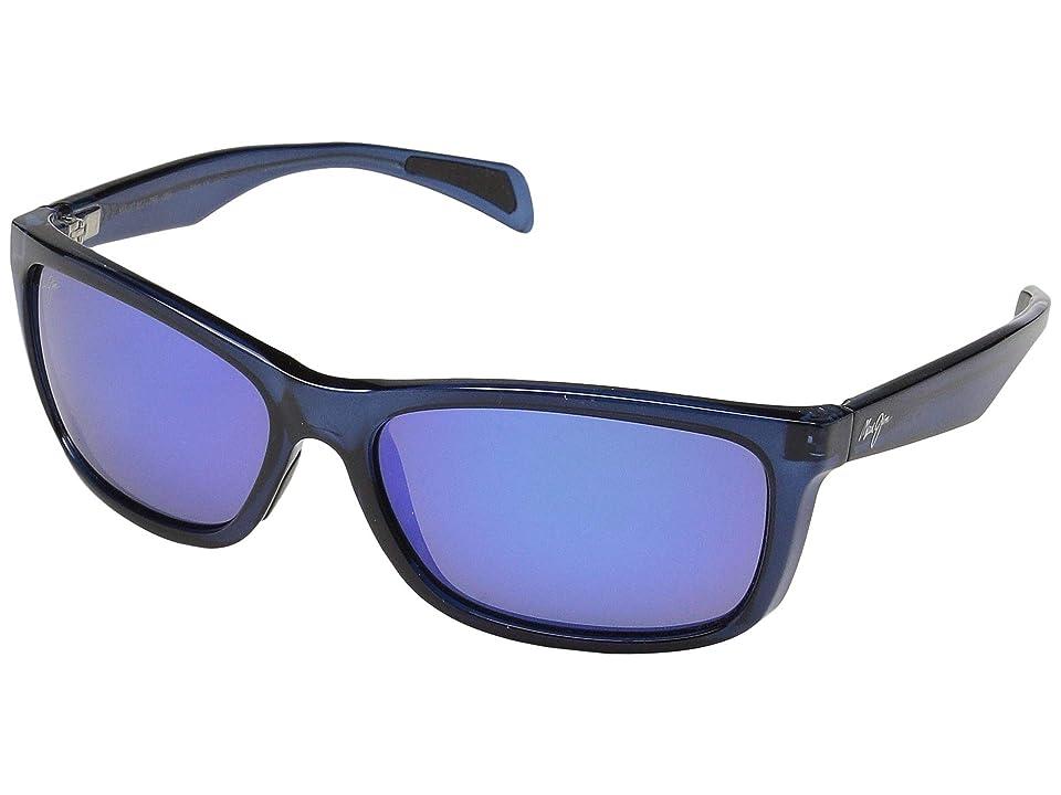 Maui Jim Puhi (Translucent Navy Blue/Blue Hawaii) Fashion Sunglasses