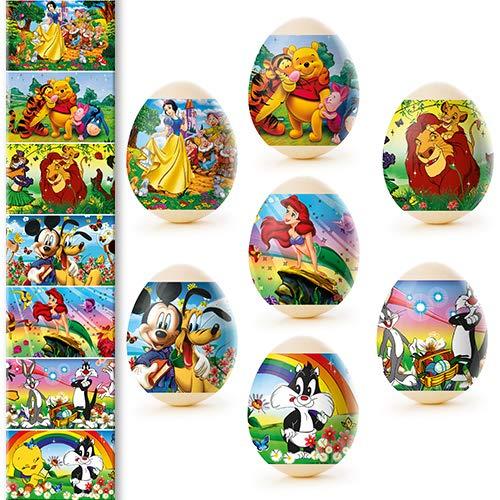 Unbekannt Ostern Feen Ostereier Eieraufkleber Eierfarben Oster Dekorbanderolen, 7 Verschiedene Motive in Packung