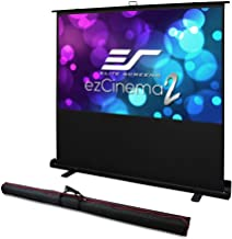 Elite Screens ezCinema 2, Portable Manual Floor Pull Up with Scissor Backed Projector Screen,110-inch,16:9, 16:10, 4:3,1:1  Home Theater Office Classroom Projection Screen with Carrying Bag, F110NWX2