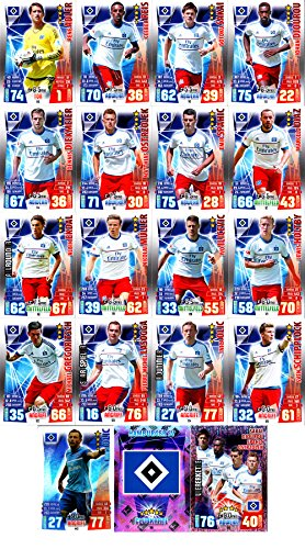 Match Attax Bundesliga 2015 2016 - Karten-Set Hamburger SV Cap Viererkette Clubkarte - Deutsch