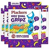 Plackers Kids Dental Floss Picks 75, Multicolor, Fruit Smoothie Swirl, Original Version, 300 Count (Pack of 4)