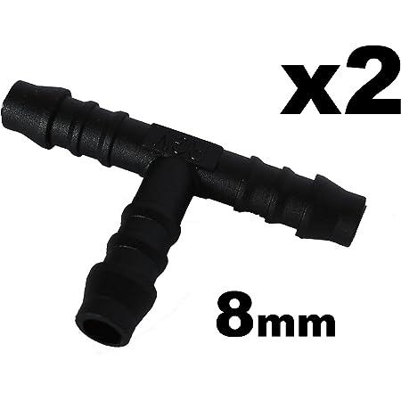 Schlauchverbinder Kunststoff T Stück X2 Außendurchmesser 4mm Für Schläuchen Auto