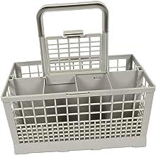 Prettyia 8 Slot Dishwasher Cutlery Basket Cage Spoon Rack Universal with Handle Lid