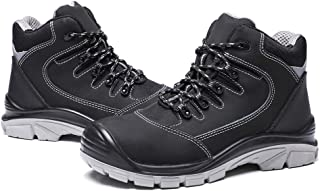 Men's Steel Toe Work Boots Water Resistant Safety Shoes