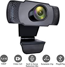 1080P Webcam with Microphone, iMXPW USB 2.0 Desktop Laptop Computer Web Camera with Auto Light Correction, Plug and Play, for Windows Mac OS, for Video Streaming, Conference, Gaming, Online Classes
