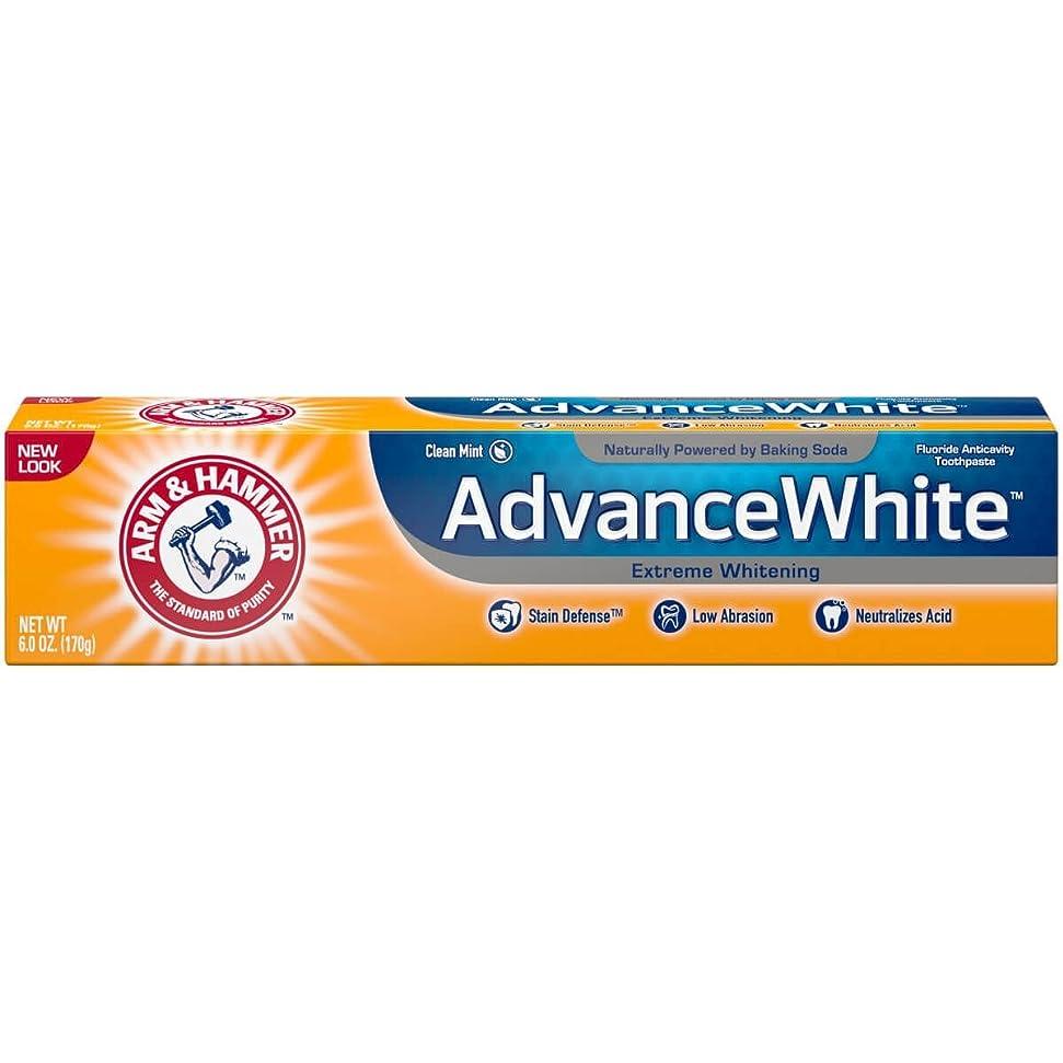 事業内容プレゼンテーションリゾートArm & Hammer アドバンスホワイトエクストリームホワイトニングで染色防衛の歯磨き粉、6オズ(3パック) 3パック