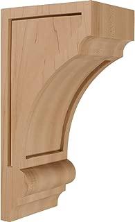 Ekena Millwork CORW04X05X10DIMA 4-Inch W x 5-Inch D x 10-Inch H Diane Recessed Wood Corbel, Maple