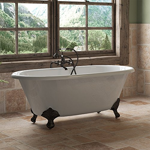 Buy Cambridge Plumbing Cast Iron Double Ended Clawfoot Tub 60 X 30 with No Faucet Drillings and Co...