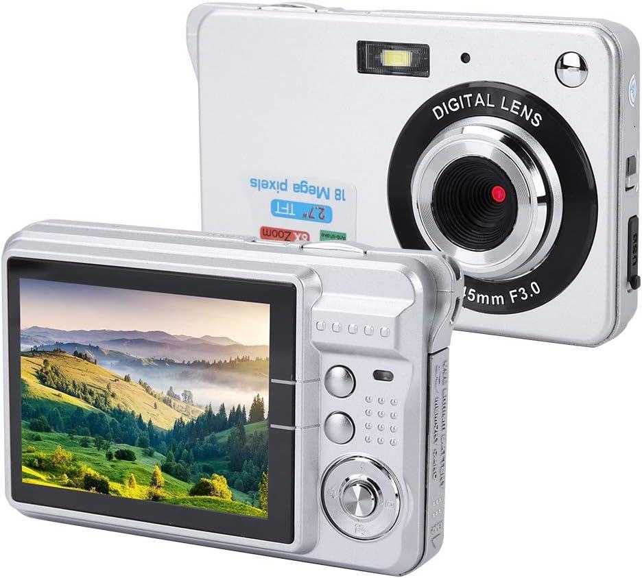 Digitale camera voor kinderen, HD digitale camera met 3 kleuren voor kinderen, 94 * 60 * 24 mm voor peuters(red) Silver