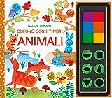 Animali. Disegno con i timbri. Ediz. a colori. Con gadget...