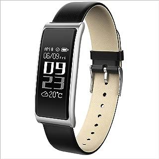 XHZNDZ Fitness Tracker Smart Bracelet Body Health Blood Pressure Heart Rate Monitor Waterproof Sports Touch Screen Activity Smart Watch (Color : Silver)