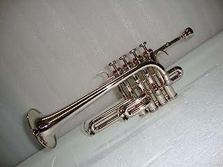 سایه موزیکال هند نقره نیکل Piccolo Trumpet با مورد رایگان + دهانه
