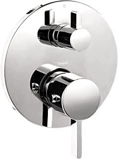 hansgrohe 04230000 S Thermostatic Trim with Integrated Volume Control-Less Valve, 6.75 x 6.75 x 3.00 inches, Chrome