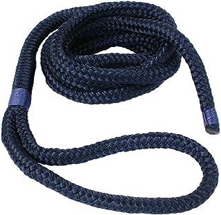 Cabo Boot Fenderleine | Festmacherleine | Fenderseil | Tau | Seil 8, 10, 12 mm Durchmesser mit Auge, 2 m oder 3 m Lang, in Dunkelblau