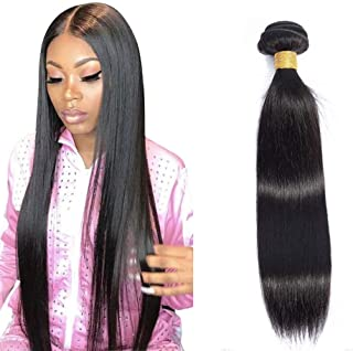 Kafeier Brazilian Hair Straight Weave Bundle Long Human Hair Extensions Black Natural Hair 100% Real Hair Unprocessed Deals 12inch