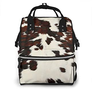Cow Spots Print Diaper Bag Backpack Maternity Baby Nappy Changing Bags Shoulder Bag Organizer Multi-Function Travel Backpack