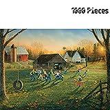 ZZH 1000 Pièces Puzzles pour Adultes Puzzles Intellectual Game Decompression Toys,Adolescent Jouant Au Rugby Piece Puzzles,A