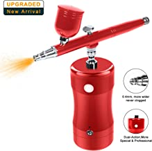 LATITOP Upgraded Auto Airbrush Kit Rechargeable Handheld Dual-Action Mini Air Compressor Airbrush Set with 0.4mm Nozzles, Portable Cordless Airbrush Gun with Low Noise for Makeup, Tattoo, Nail Art