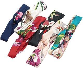 Beaupretty 6 faixas de cabelo femininas cruzadas com elástico turbante para cabelo para mulheres, acessórios de cabelo