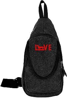 Arvolas Sling Bag Crossbody Love Dachshund Shoulder Canvas Chest Bag Antirrobo Mochila de Hombro Mochila de Viaje para Hom...