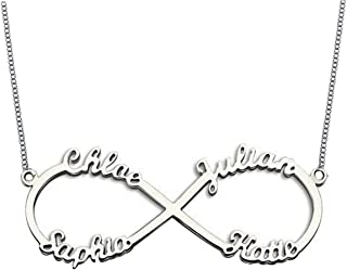 infinity name necklace 4 names