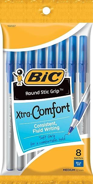 NEW 36 Count BIC Round Stic Grip Xtra Comfort Ballpoint Pens Medium,Black