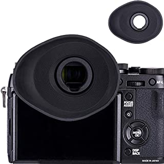 JJC Enlarged Soft Oval Shape Eyecup Eyepiece Eyeshade for Fujifilm Fuji X-T3 X-T2 X-T1 X-H1 GFX 50S (EVF-GFX1) Camera Viewfinder, Replacement for Fuji Eye Cup EC-XH W EC-GFX EC-XT L EC-XT M EC-XT S