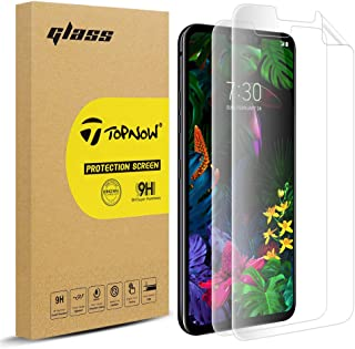 [2 Pack] Topnow Screen Protector for LG G8 ThinQ, [Self Healing] [Full Coverage] HD Effect Flexible Film, Lifetime Replacement Warranty