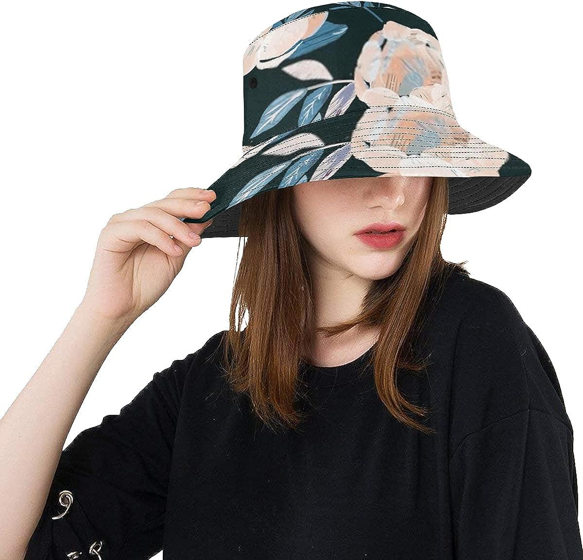 Ranking TOP4 Unique online shop Bucket Hat Delicate Light Peonies Casua Beige Roses Peach