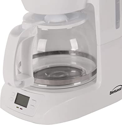 Brentwood Appliances BTWTS219W 10-Cup Digital Coffee Maker (White), One Size