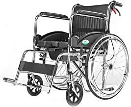 Zhi BEI Wheelchair, Elderly Disabled Person, Manual Manual Steel Wheelchair, Sitting and Folding Portable Care  