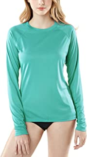 TSLA Women's UPF 50+ Rash Guard Long Sleeve SwimShirt, Water Beach Surf Swim Shirts, UV/Sun Protection Swimwear