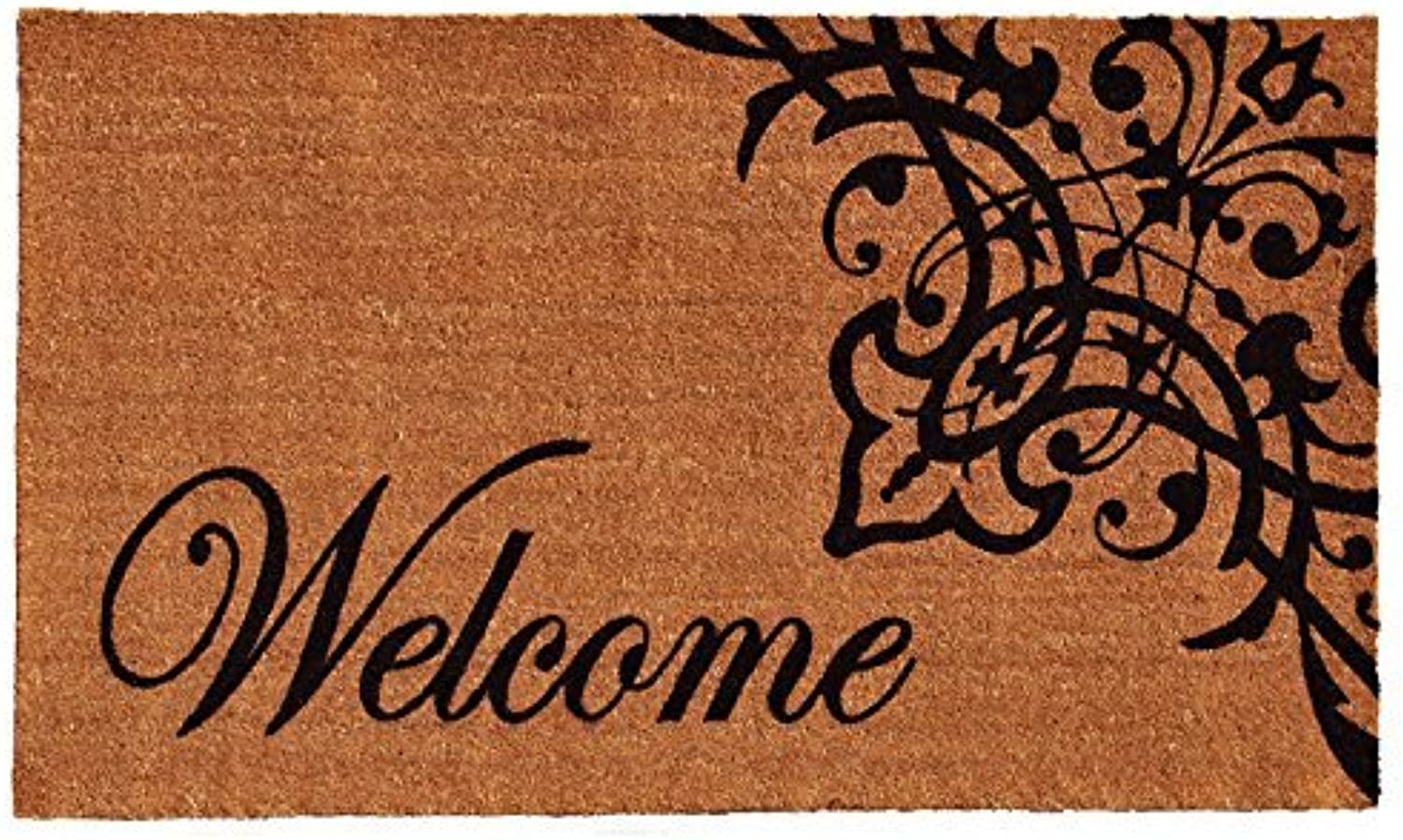 Home & More 121352436 Scroll Welcome Doormat, 24 by 36-Inch