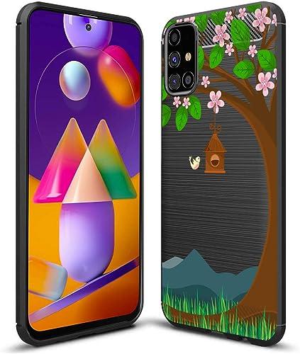 Fashionury Rubberised Designer Printed Back Cover For Samsung Galaxy M31s Samsung M31s HB029