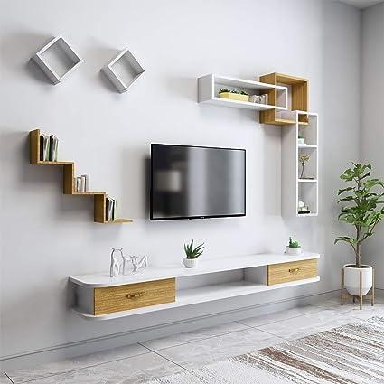 Soporte de TV montado en la pared Consola de entretenimiento ...