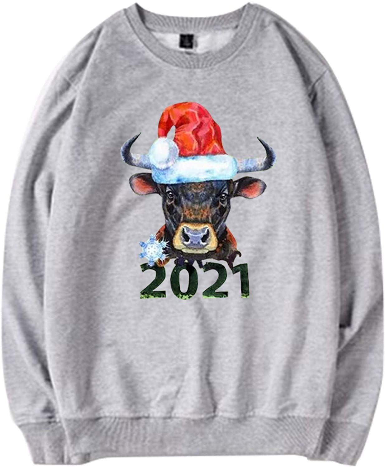 Long Max 73% OFF Sleeve Pullover Shirts for Merry Christmas Women 2021 Superior Funny
