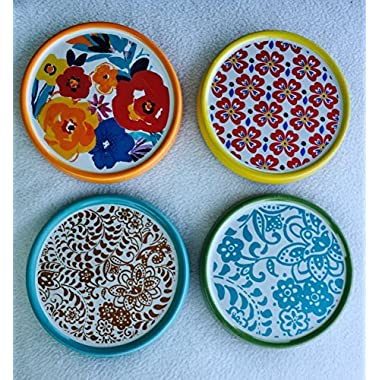 Pioneer Woman Flea Market Coasters - Set of 4 - Colorful Florals