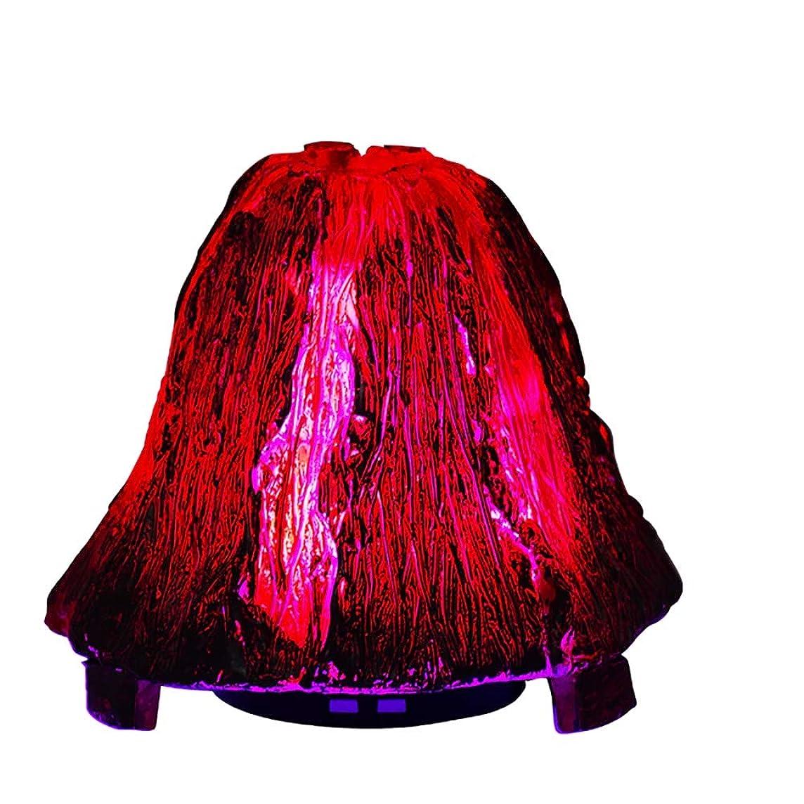再撮りカーフ酸っぱいオリジナリティ火山のエッセンシャルオイルディフューザー、120mlアロマセラピー超音波クールミスト加湿器、7色LEDライト付きウォーターレスオートオフ